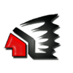 Red and Black Raiderhead Logo