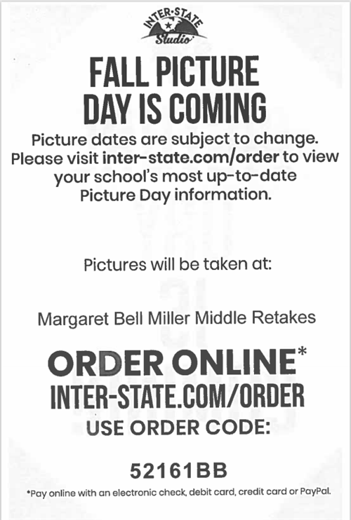 Picture Day ordering information