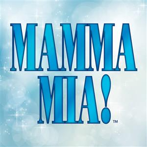 Picture of the words Mamma Mia, which is the spring musical.