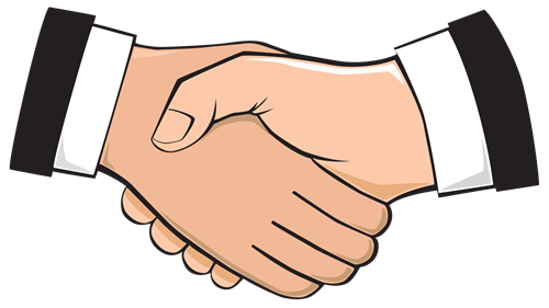 Picture of two men shaking hands.